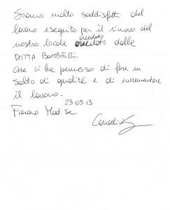 Corradini dichiarazione
